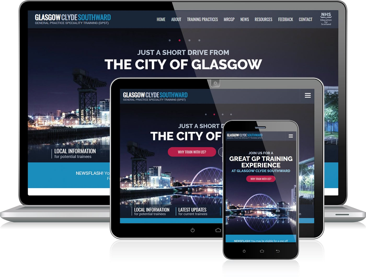 Responsive web design on various devices