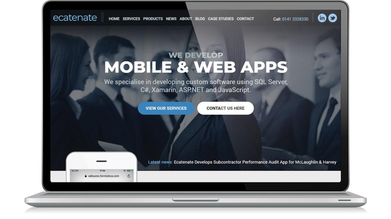 Website design for Ecatenate