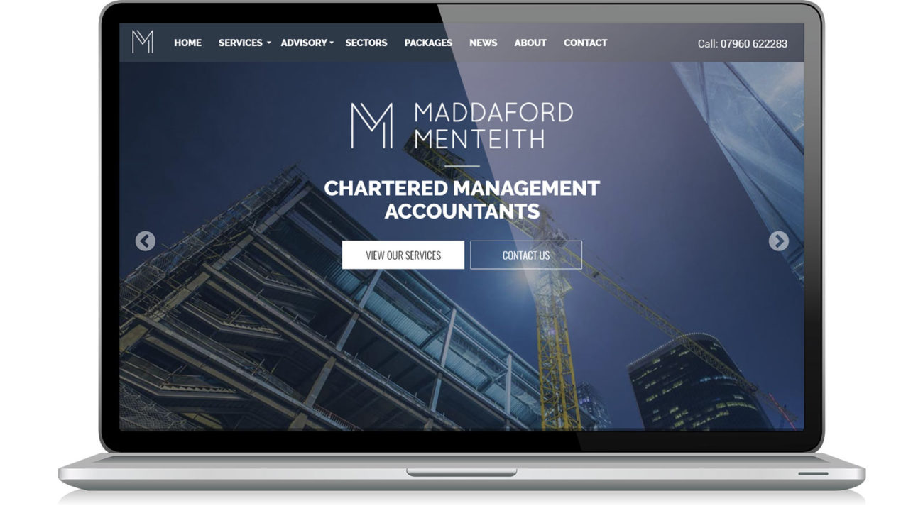 Website design for Maddaford Menteith