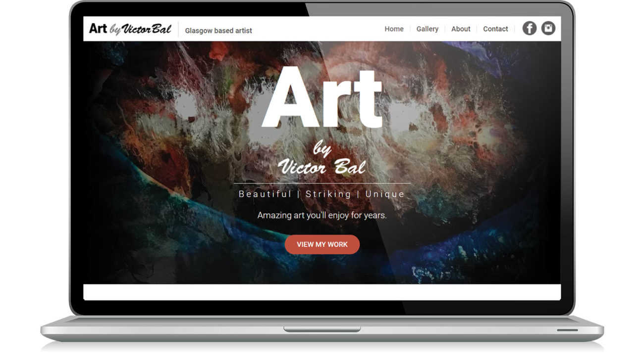 Website design for Art By Victor Bal